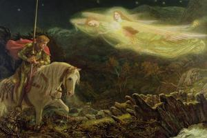Sir Galahad - the Quest of the Holy Grail, 1870 by Arthur Hughes