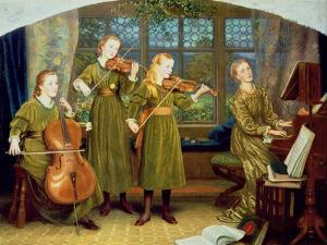 The Home Quartet: Mrs Vernon Lushington and Her Children, 1883 by Arthur Hughes