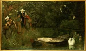 The Lady of Shalott, 1873 by Arthur Hughes