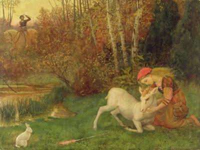 The White Hind, C.1870 by Arthur Hughes