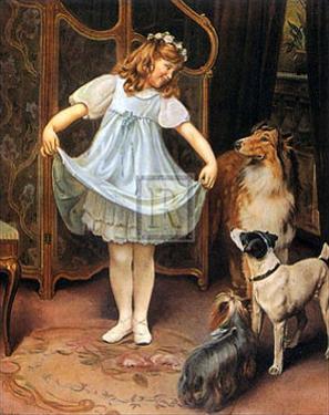 The New Dress by Arthur John Elsley