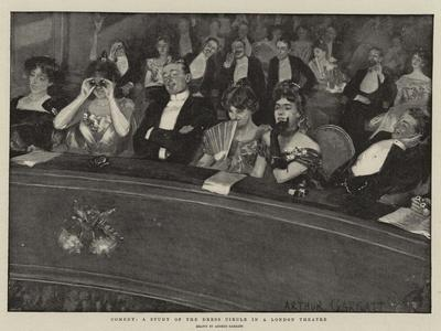 Comedy, a Study of the Dress Circle in a London Theatre