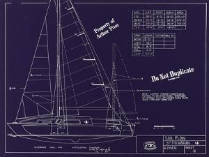Plan of 31 Foot Trimaran Aa-31 by Arthur Piver