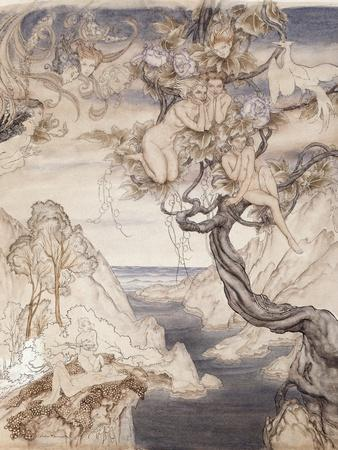 A Fairy Song, Drawn for Act II, Scene II, from 'A Midsummer Night's Dream'