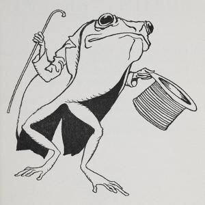 A Frog Wearing Top Hat and Tails, Carrying a Cane by Arthur Rackham