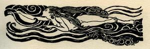 A Rhinemaiden, from Das Rhinegold by Richard Wagner by Arthur Rackham