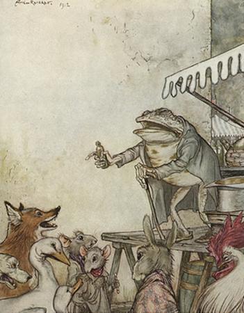 Aesop, Frog Physician by Arthur Rackham