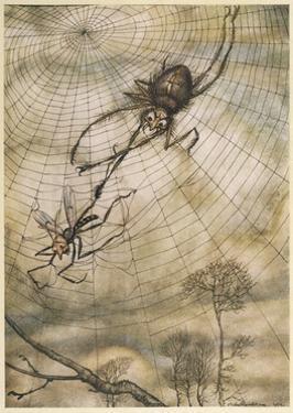 Aesop, Gnat and the Lion by Arthur Rackham