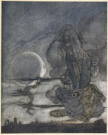 Aesop, Moon and Mother by Arthur Rackham