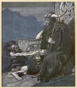 Alberich and Hagen by Arthur Rackham