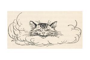 Alice: Cats Head in Cloud by Arthur Rackham