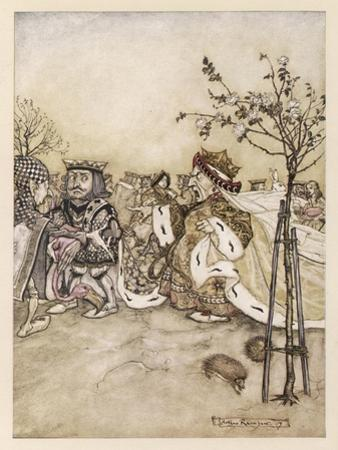 Alice: Croquet Match by Arthur Rackham