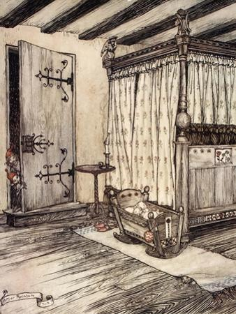 ..Almost Fairy Time, Illustration from 'Midsummer Nights Dream' by William Shakespeare, 1908 by Arthur Rackham
