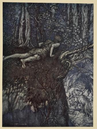 And there I learnt what love was like', illustration from 'Siegfried and the Twilight of Gods' by Arthur Rackham