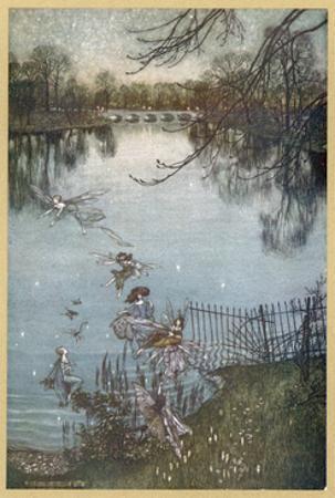 At the Serpentine by Arthur Rackham
