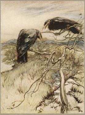 Ballad, Twa Corbies by Arthur Rackham