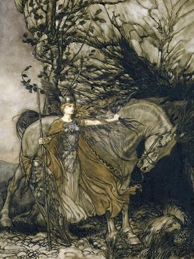 Brunnhilde, 1910 by Arthur Rackham