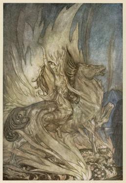 Brunnhilde's End by Arthur Rackham