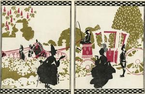 Cinderella with Her Fairy Godmother by Arthur Rackham