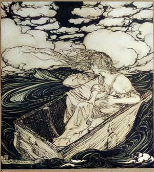 Danae and her son Perseus, 1903 by Arthur Rackham