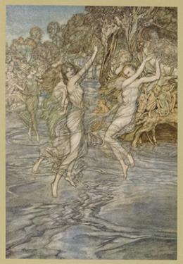 Dancing on Water by Arthur Rackham