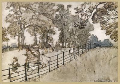England, London, Parks by Arthur Rackham