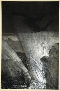 Erda bids thee beware', 1910 by Arthur Rackham