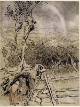 Exactly Where the Rainbow Ends, 1914 by Arthur Rackham