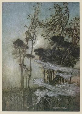 Fairies at the New Moon by Arthur Rackham