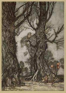Fairy Lantern Bearers by Arthur Rackham
