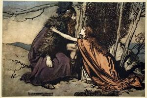 Father! Father! Tell me what ails thee? With dismay thou art filling thy child!', 1910 by Arthur Rackham