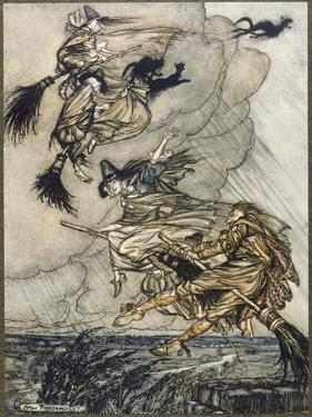Flight of Witches by Arthur Rackham