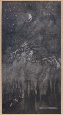 Fog Personified by Arthur Rackham