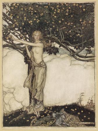 Freia, Rackham by Arthur Rackham