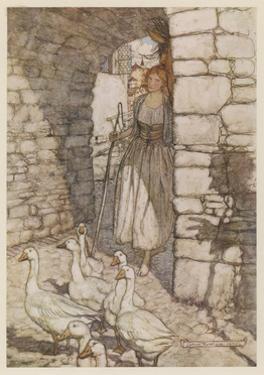 Goose Girl, Rackham by Arthur Rackham