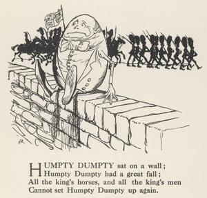 Humpty Dumpty by Arthur Rackham