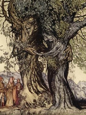I Am Old Philemon! Murmured the Oak, Illustration from 'A Wonder Book for Girls and Boys' by Arthur Rackham