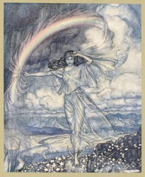 Iris Makes Rainbow by Arthur Rackham