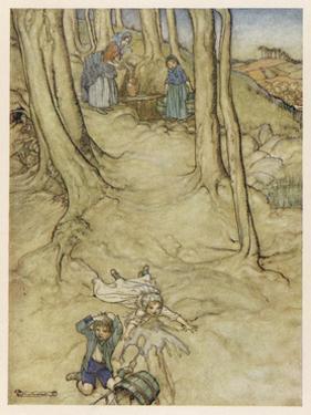 Jack and Jill, Rackham by Arthur Rackham