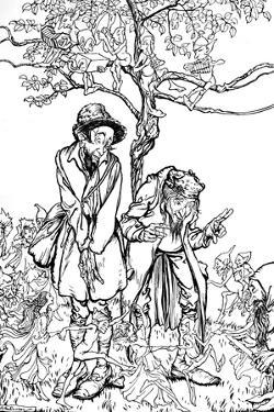 'Little Brother and Little Sister', 1917, (1923) by Arthur Rackham