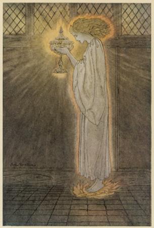 Maiden and Grail by Arthur Rackham