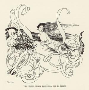Mermaid, Octopus Rackham by Arthur Rackham