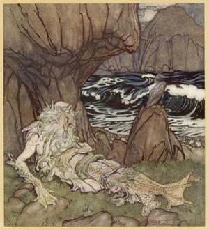 Merman by Arthur Rackham