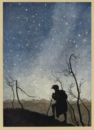 Milton, Comus, Stars 1634 by Arthur Rackham
