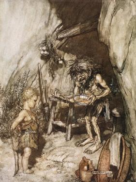 Mime and the infant', 1924 by Arthur Rackham