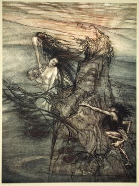 Mock away! Mock! The Nibelung makes for your toy!', 1910 by Arthur Rackham