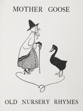 Mother Goose. Old Lady With Goose by Arthur Rackham