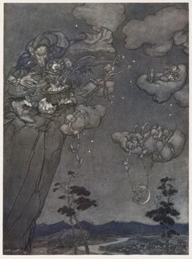Myth, Old Squaw, Moon, Star by Arthur Rackham