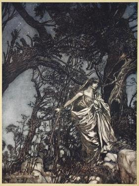 Never So Weary Never So in Woe, Illustration from 'Midsummer Nights Dream' by William Shakespeare by Arthur Rackham