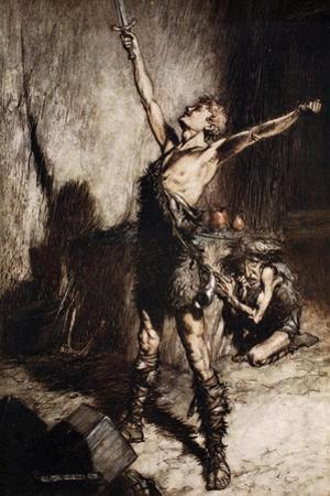 Nothung! Nothung! Conquering sword!', 1924 by Arthur Rackham